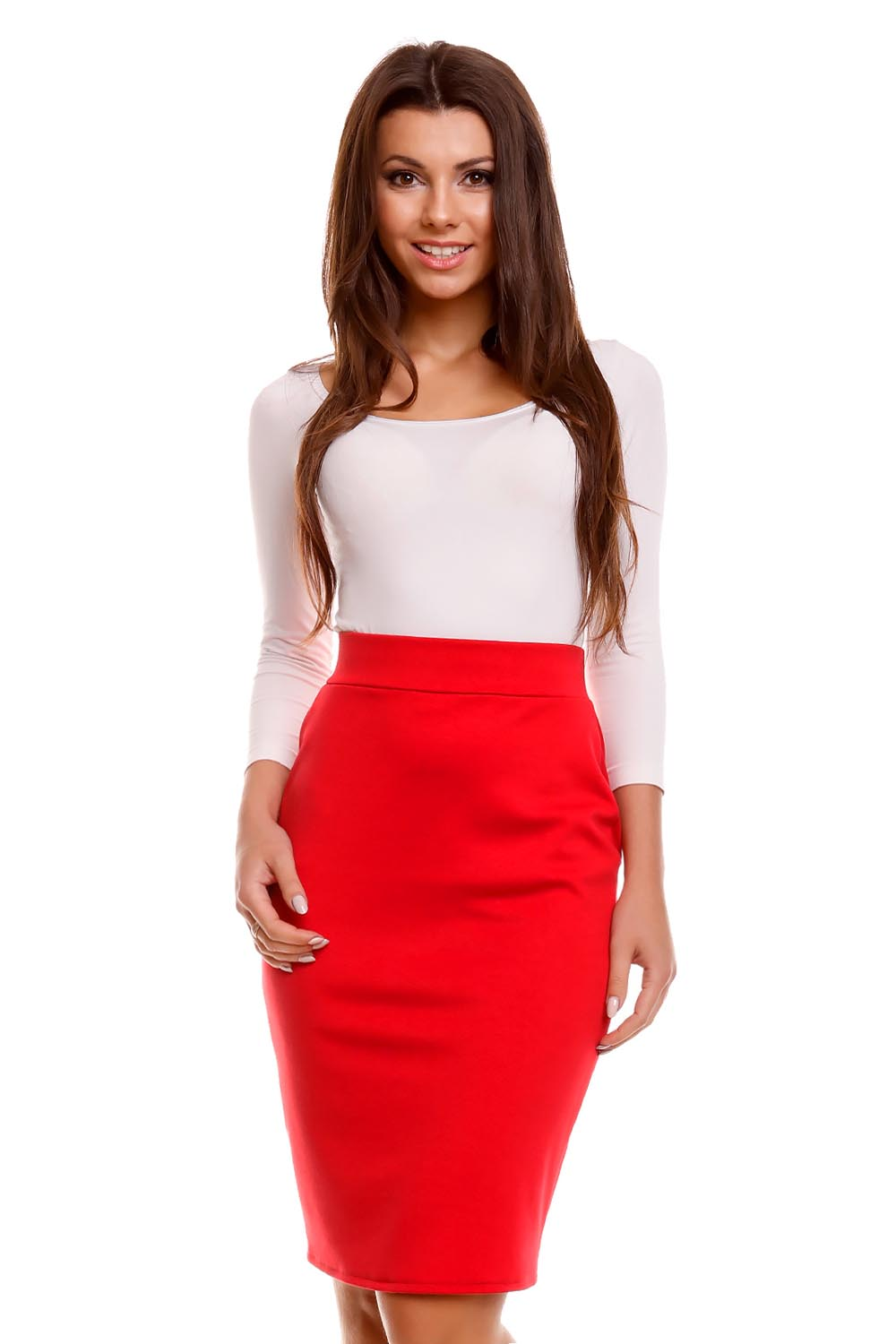 Red Pencil Skirts - Skirts